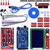 Longruner 3D Printer Controller Kit for Arduino Mega 2560 Uno R3 Starter Kits + RAMPS 1.4