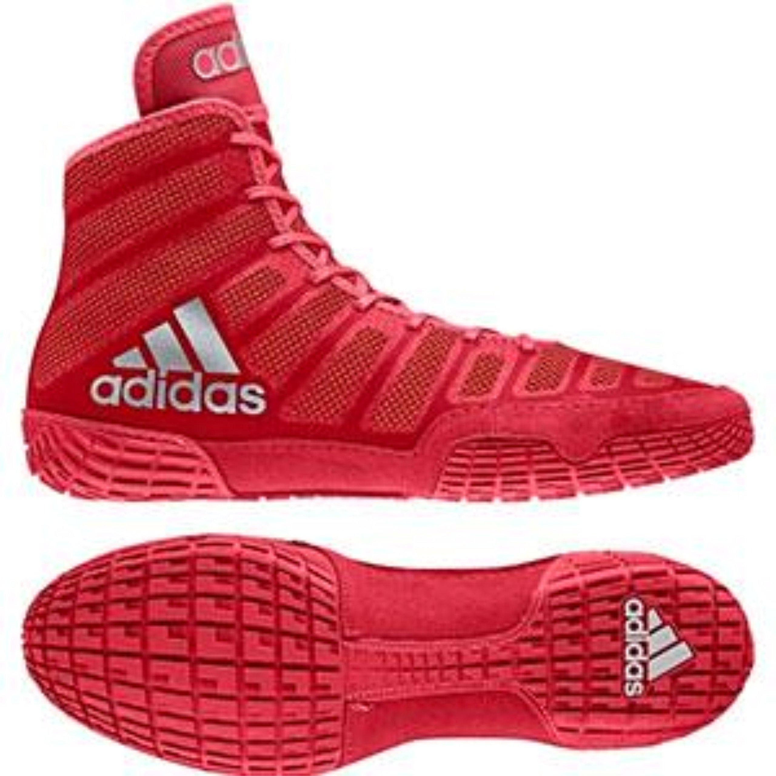 online retailer f36f1 39320 ... ireland galleon adidas mens adizero varner wrestling shoes red silver  size 6 78abc 6178a