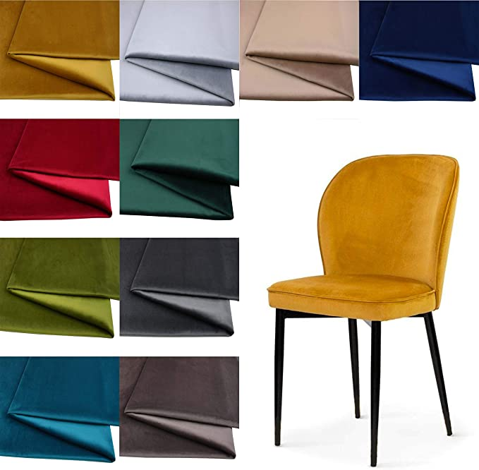 Tukan-tex UVEL Furniture Fabric Velour Velvet Fabric / Suede Look 50 x 150 cm: Amazon.de: Küche & Haushalt