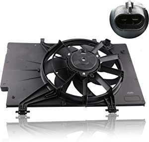 MOSTPLUS Front Radiator Cooling Fan Assembly w/ 7 Blade for Ford Fiesta 1.6L BE8Z8C607A