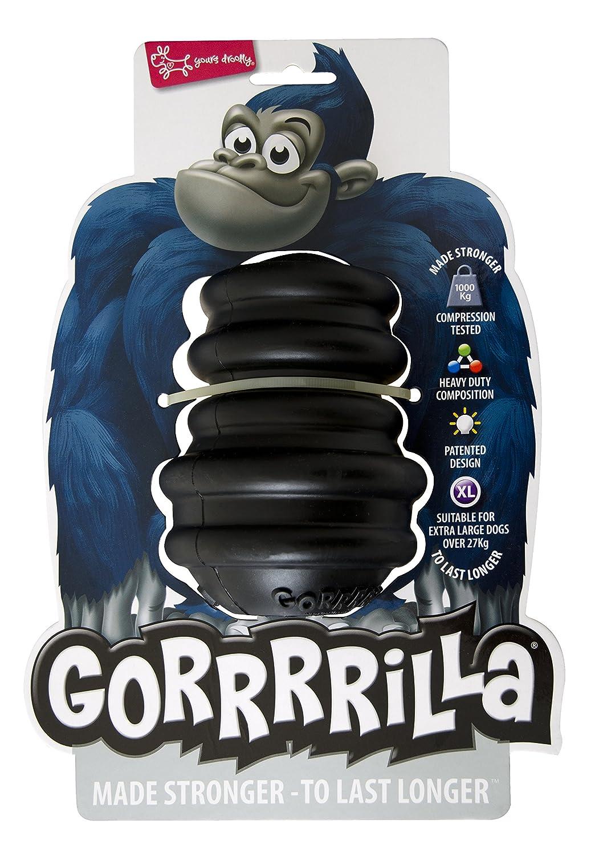 EUROPET Jouet pour Chien Gorrrrilla Classic Rubber Toy Extra Large Black +27kg XAL795