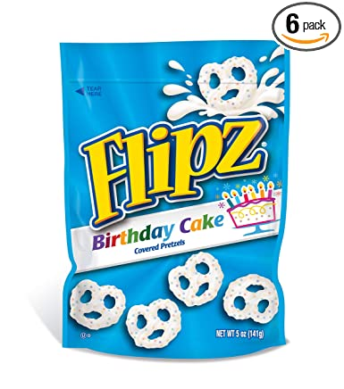 Flipz Birthday Cake Coated Pretzel, 5 Ounce -- 6 per case.