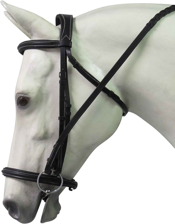 Henri de Rivel Pro Mono Crown Padded Bridle with Laced Reins