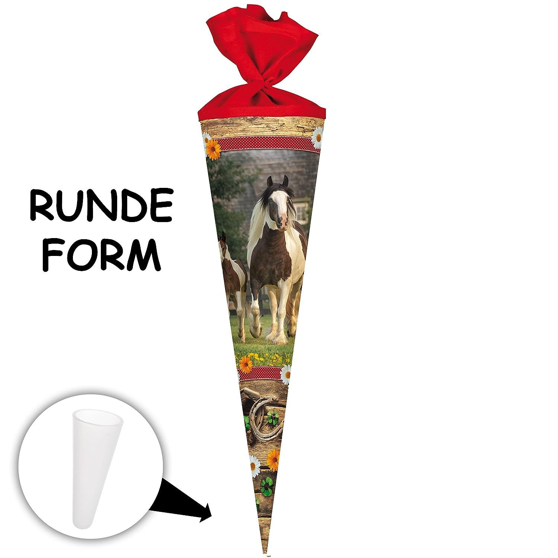 Alles-meine  GmbH 10 Stück _ Schultüten - - -  Pferde & Fohlen - Pferdekoppel  - 50 cm - rund - incl. individueller Schleife - mit Namen - mit Tüllabschluß - Zuckertüte - mit   o.. B07DHY1ZVT | Günstige Preise  | Sale Düsseldorf  | af758d