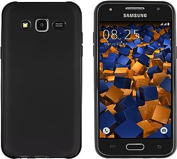 Mumbi HardCase - Funda para Samsung Galaxy J5, Color Negro Mate: Amazon.es: Electrónica