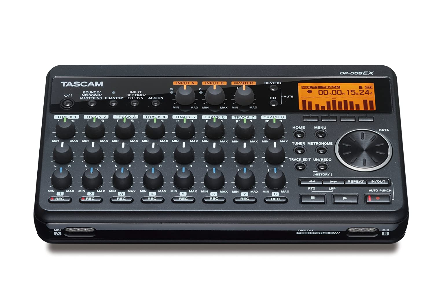 Tascam DP-008EX 8-Track Digital Pocketstudio Multi-Track Audio Recorder