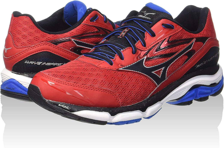 Mizuno Zapatillas de Running Wave Inspire 12 Rojo/Negro EU 44 (US 10.5): Amazon.es: Zapatos y complementos