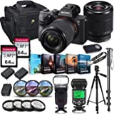 Sony Alpha a7 III Mirrorless Digital SLR Camera with 28-70mm Lens Kit + Prime TTL Accessory Bundle with 128GB Memory…