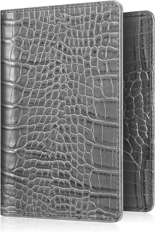 PU Crocodile Leather Passport Holder Protective Cover Case Card Travel Organizer