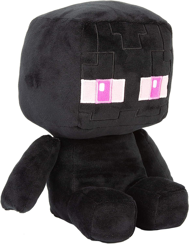 """JINX Minecraft Crafter Enderman Plush Stuffed Toy, Black, 11.11"""" Tall"""