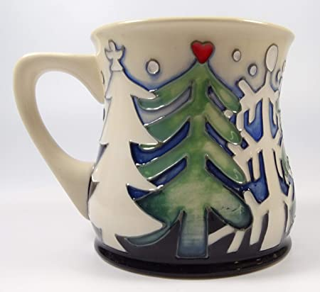 Moorcroft Pottery Christmas Woods Trees Mug Emma Bossons RRP
