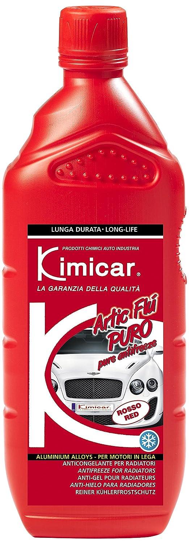 Kimicar 005R100 Artic FLU Puro Liquido Antigelo per Radiatori, 1 lt, Rosso, Set di 1 Kimicar SRL