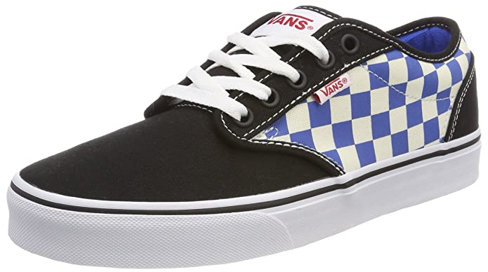 Vans Atwood Herren Sneaker Schwarz-Blau/Weiß Kariert