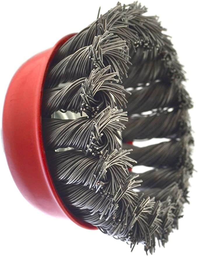 """Wire Cup Brush Wheel 3/"""" for 4-1//2/"""" 115mm Angle Grinder Twist Knot 6 Pack TE243"""