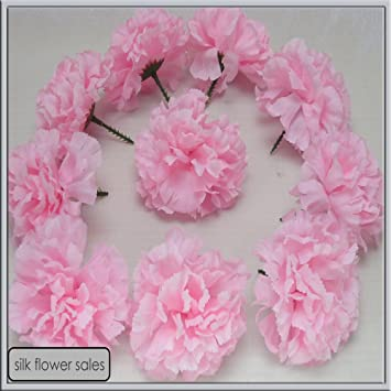 Amazon 72 baby pink carnation picks artificial silk flowers 72 baby pink carnation picks artificial silk flowers wedding buttonholes funeral tributes by silk mightylinksfo