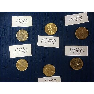 20 Lira Italian Italiano Italie Pièce (1970 20 Lire Or / Laiton Couleur)