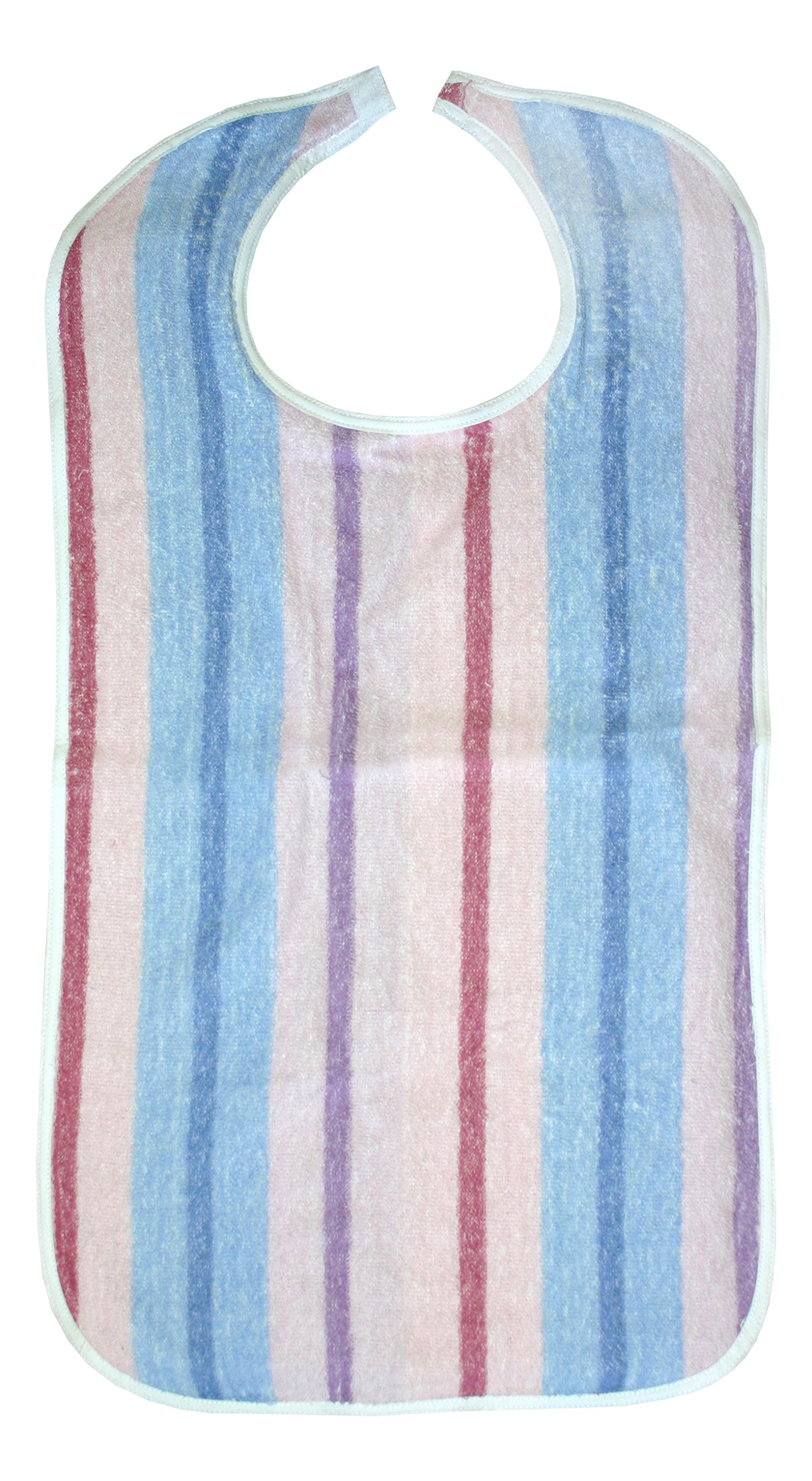 3 Terry Clothing Protector Stripes Print - Adult Bibs