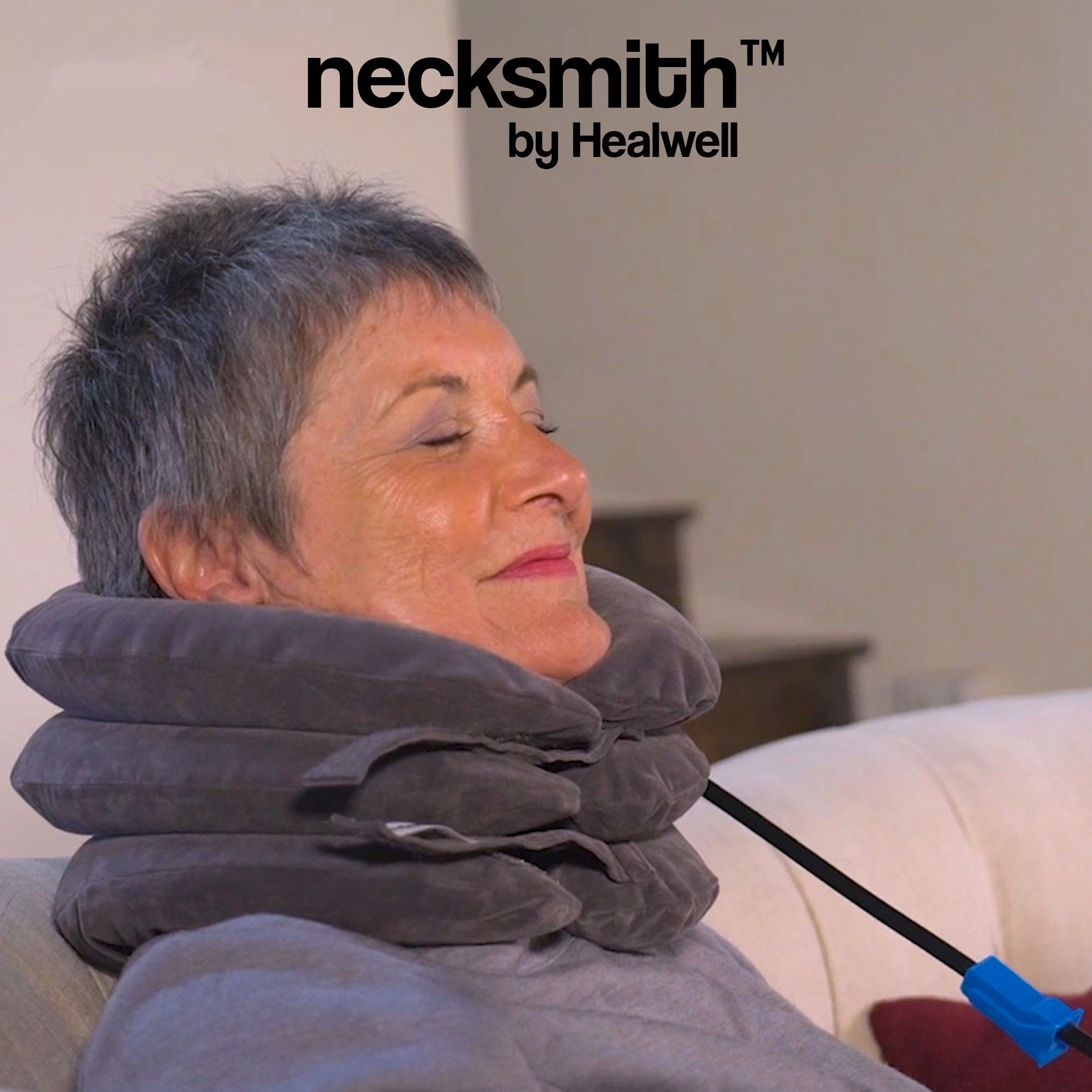 Necksmith™ Cervical Neck Traction Travel Pillow Device & Adjustable Neck Device Collar for Pain Relief and Support with FREE Neck Extensions