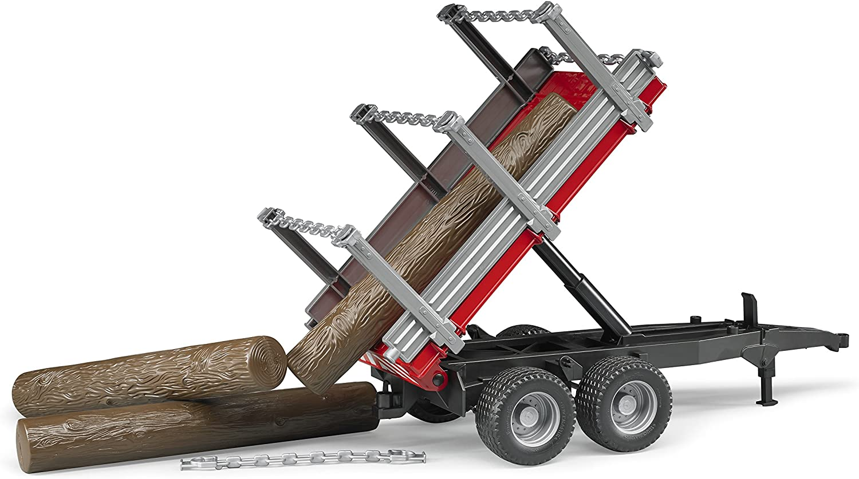 bruder 02213 Holzanhänger mit 3 Baumstämmen: