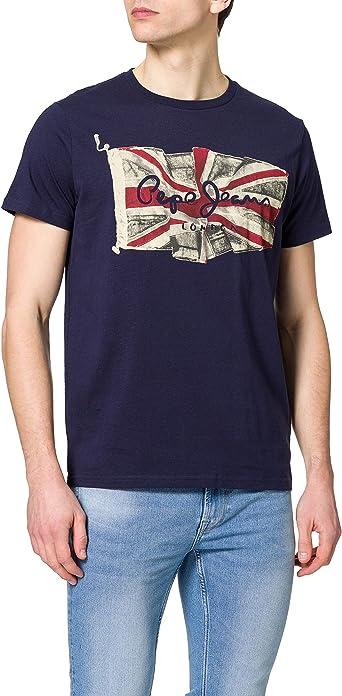TALLA S. Pepe Jeans Flag Logo Camiseta para Hombre