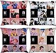 YX&ST Juego de 4 fundas de almohada Kpop BTS Bangtan Boys Mapa del alma: Persona Decoración del hogar, funda de cojín con cremallera, 45,7 x 45,7 cm