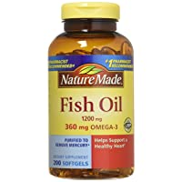 Pack of 2 Nature Made Fish Oil 1200 Mg (360 Mg Omega-3) 200 Liquid Softgels by Nature Made