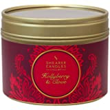 Shearer Candles Hollyberry and Clove Small Scented Gold Tin Candle - Red