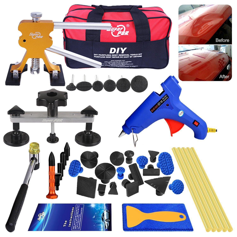 AUTOPDR 52Pcs Dent Repair Kit, Professional Dent Puller Kit, PDR Tools 52Pcs Dent Remover for Car Body Dent Repair Kit
