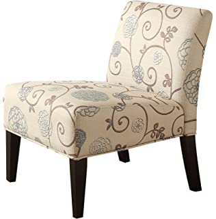 Homelegance 468F25S Lifestyle Armless Lounge Chair, Floral Fabric