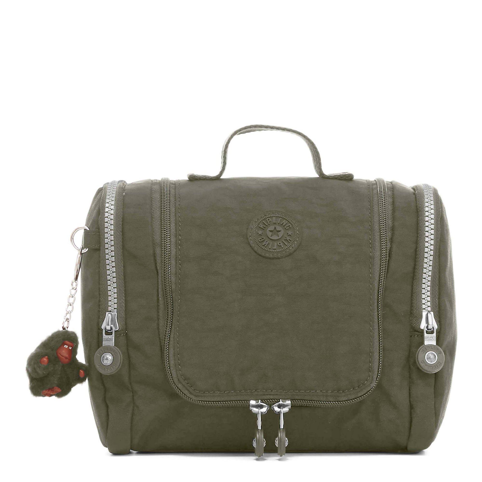 Kipling Connie Solid Hanging Toiletry Bag, Jaded Green