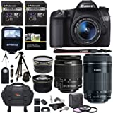 Canon EOS 70D 20.2 MP AF Full HD 1080p DSLR Camera Bundle with EF-S 18-55mm f/3.5-5.6 IS STM Lens, 55-250mm Image Stabilizer Zoom Lens and Accessory Kit (20 Items)