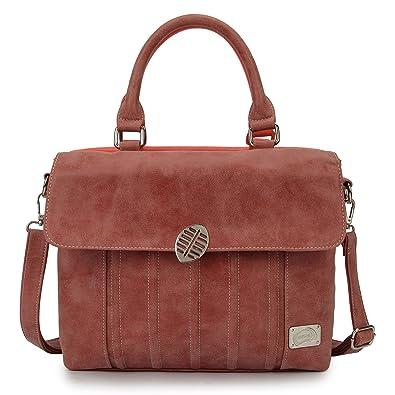 Zauberhafte zweifarbige Handtasche: Folly - rot/dunkelrot von Hi-Di-Hi Hi-di-hi Wepe2