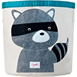 3 Sprouts Storage Bin - Raccoon, Grey, 1 Count