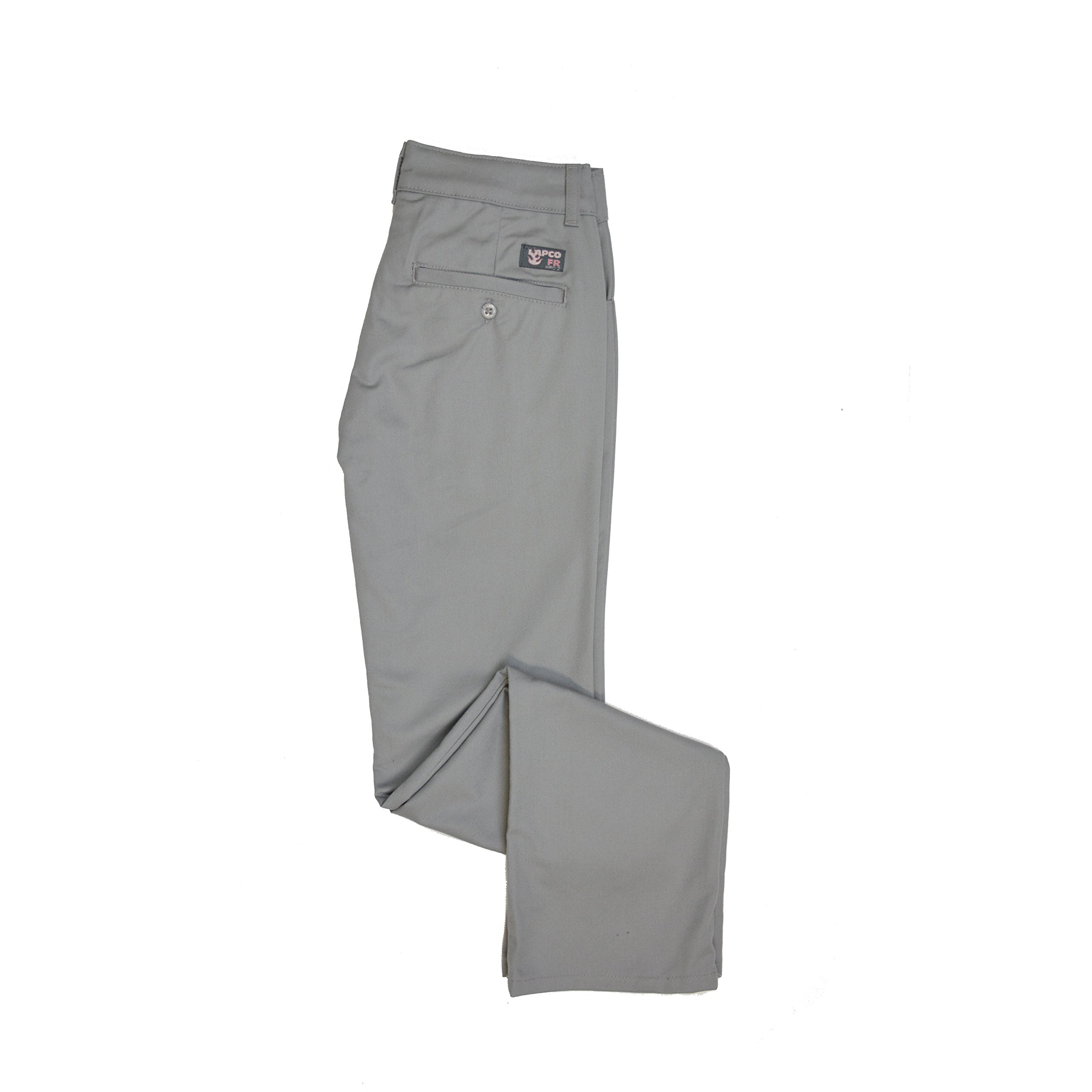 Lapco FR L-PFRACGY 10RG Ladies FR Advanced Comfort Uniform Pants, 88% Cotton, 12% Nylon, 7 oz, 10RG, Gray by Lapco FR (Image #1)