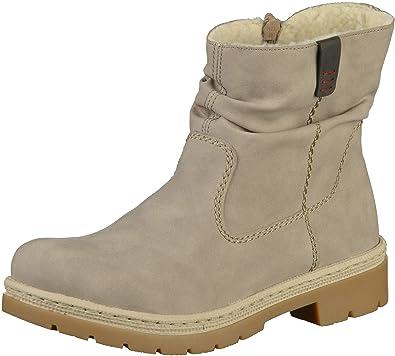 e0748ff3c181cc Rieker Damen Stiefel gefüttert Grau  Rieker  Amazon.de  Schuhe ...