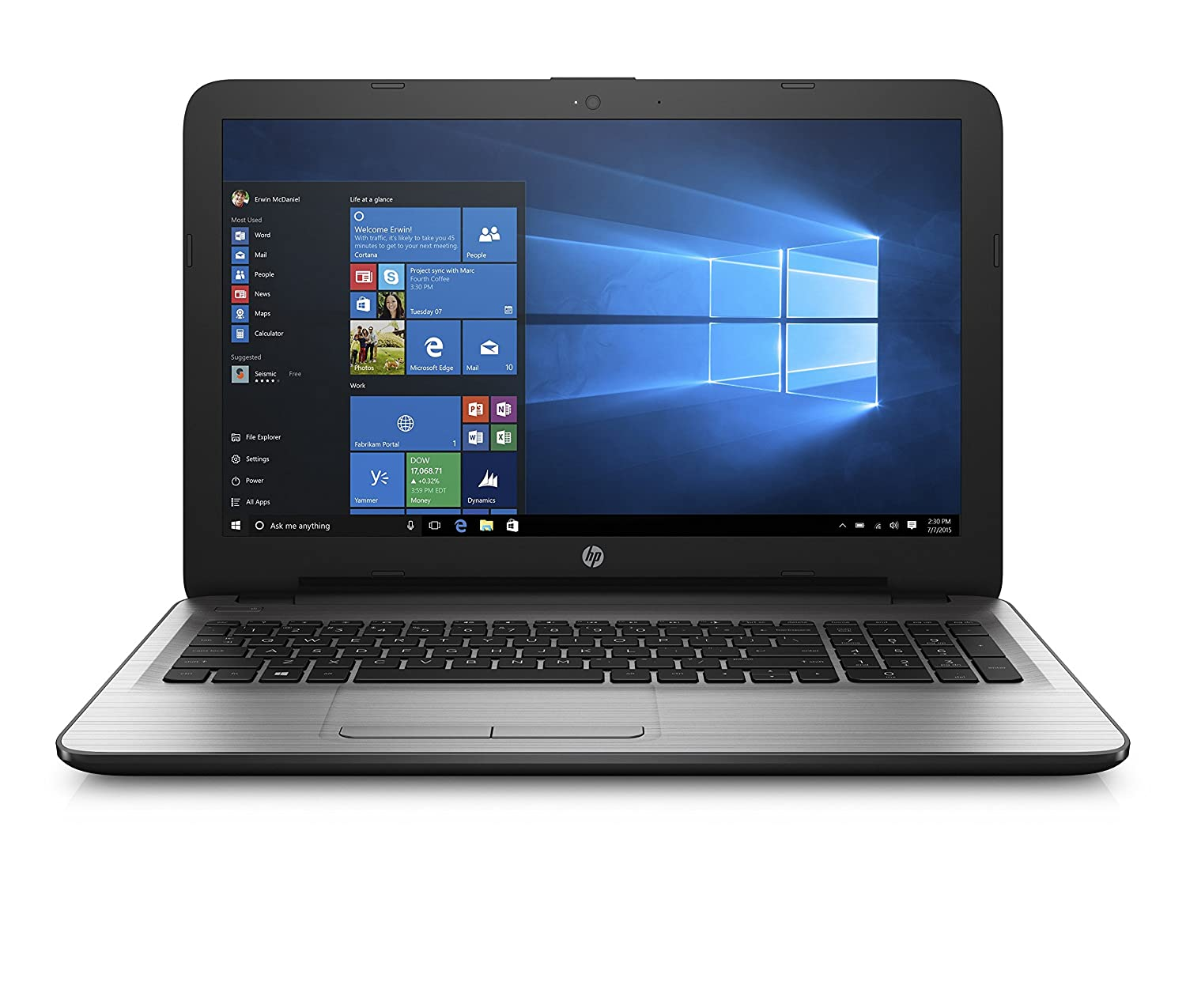 HP 15-ay018nr 15.6-Inch Laptop (Intel Core i7, 8GB RAM, 256GB...