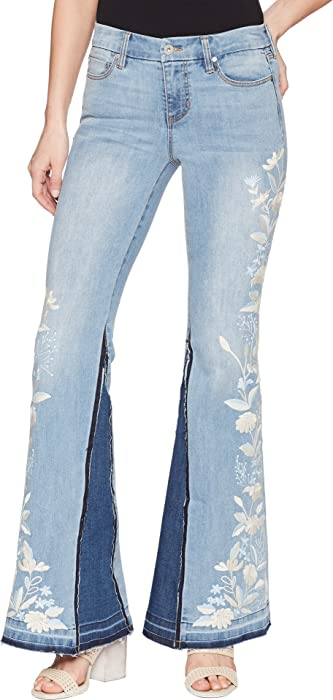 44b6c53493d Liverpool Women s LVPL Farrah Super Flare with Embroidered in Vintage Super  Comfort Stretch Denim in Beverly