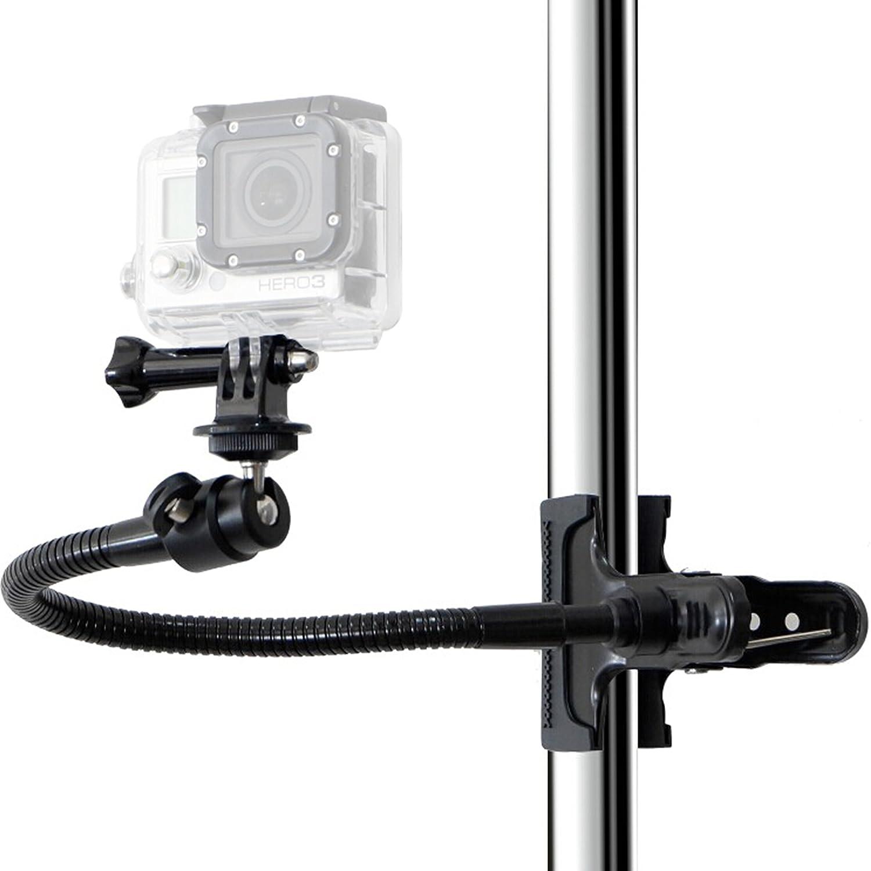 4 5 3+ Camkix Montaje con Abrazadera Compatible con GoPro 6 2 3 Pinza de Montaje de Doble Funcion para GoPro Hero 7 1 con pelota /& Enchufe y 10 Adjuntos al cuello cisne