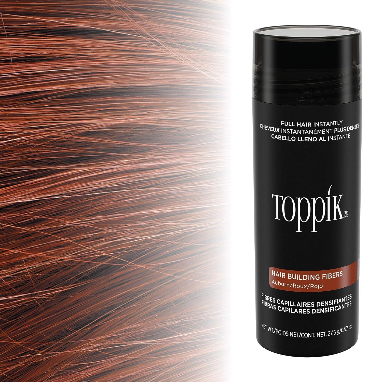 Toppik - Fibras capilares de queratina natural, Rojizo , bote de ...