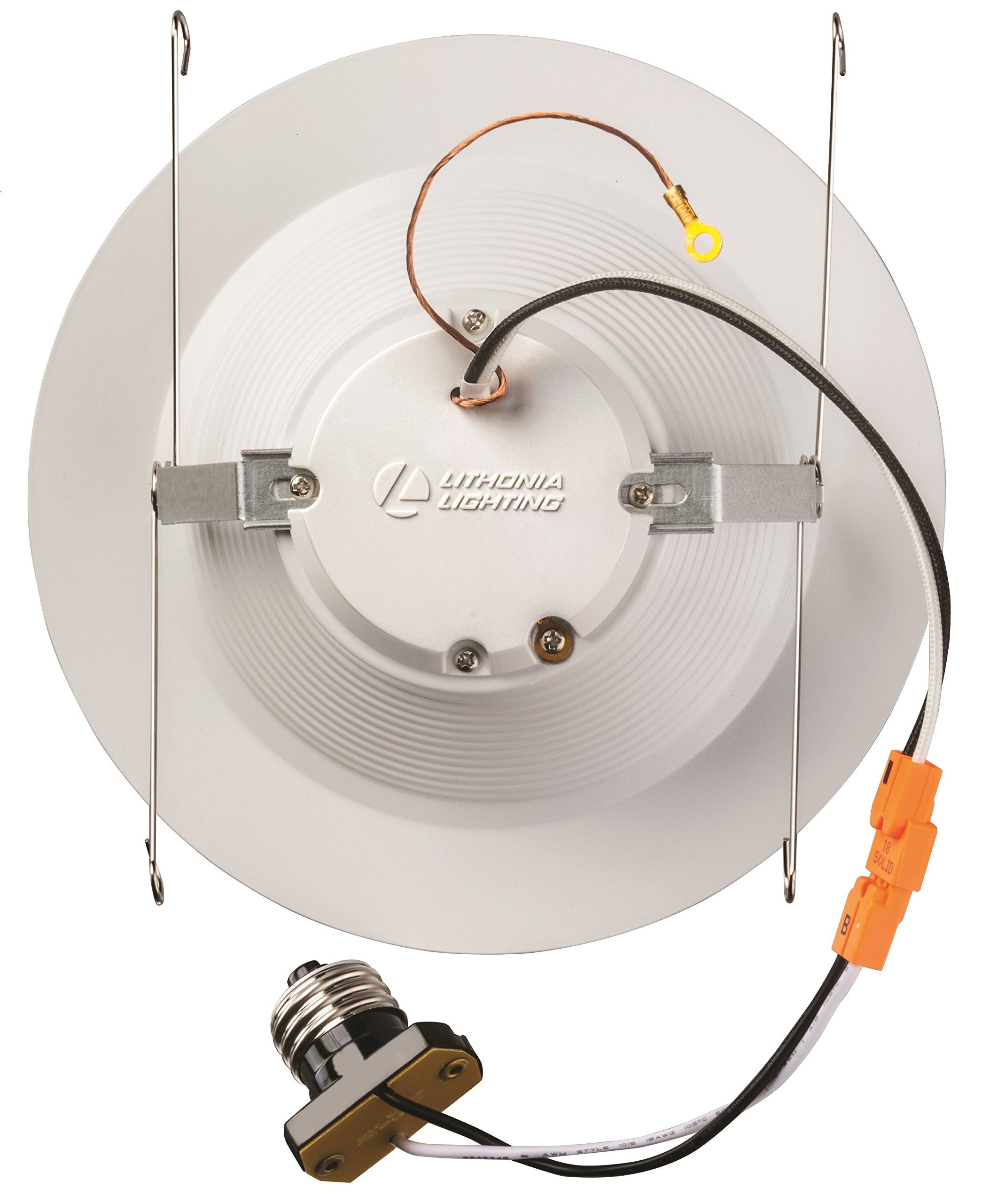 Lithonia Lighting 5/6 Inch White Retrofit LED Recessed Downlight, 12W Dimmable with 5000K Day White, 825 Lumens by Lithonia Lighting (Image #3)