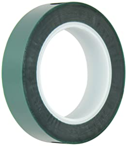 """Maxi 248 Polyester/Silicone Single Coated Splicing Tape, 3.3 mil Thick, 72 yds Length, 1"""" Width, Green"""