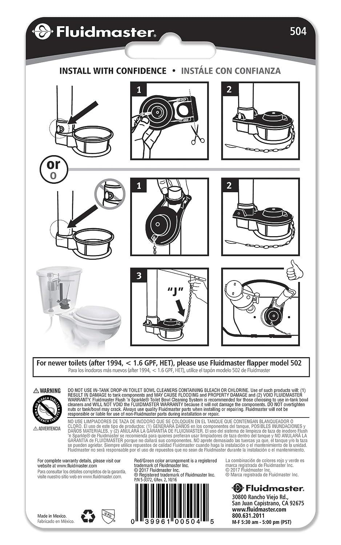 Fluidmaster 504 Universal Long Life Toilet Flapper