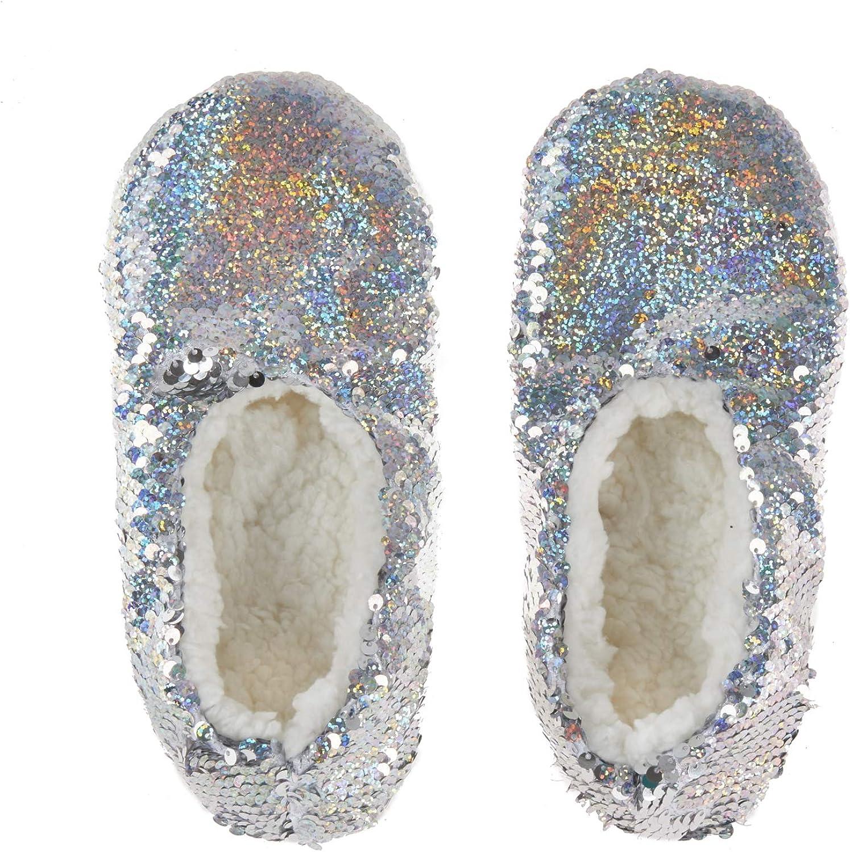 Lora Dora Girls Glitter Sequin Slipper
