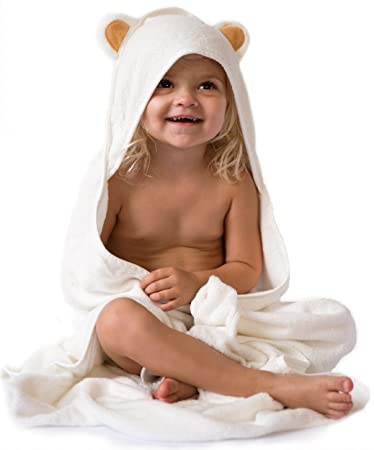 Amazon.com : Super Soft Bamboo Hooded Baby Bath Towel | Organic ...