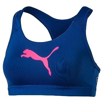 Top deportivo mujer Forever color azul y rosa elastico ...