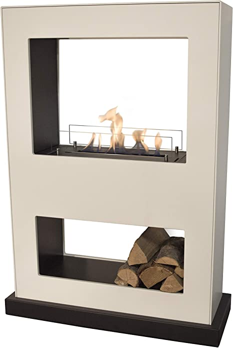 Ruby Fires Bio Lasize White Flame Electric Fireplace With Ceramic Burner Free Standing On Wheels Amazon De Küche Haushalt