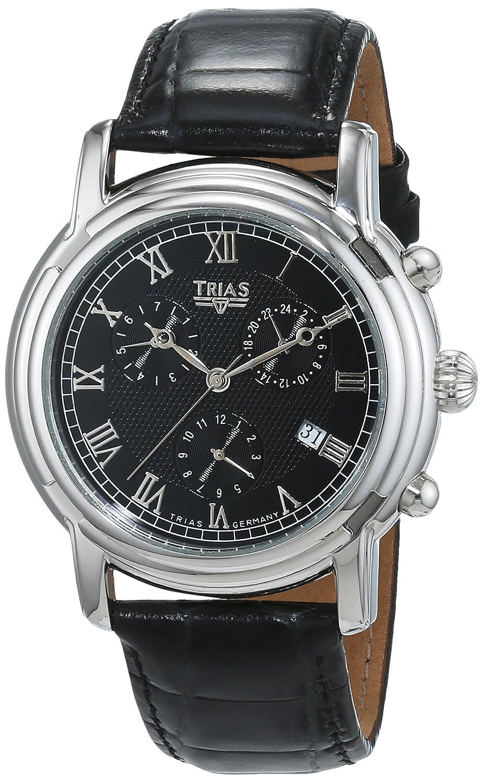 Trias Herren-Armbanduhr Analog Automatik Leder TR-T21762-S