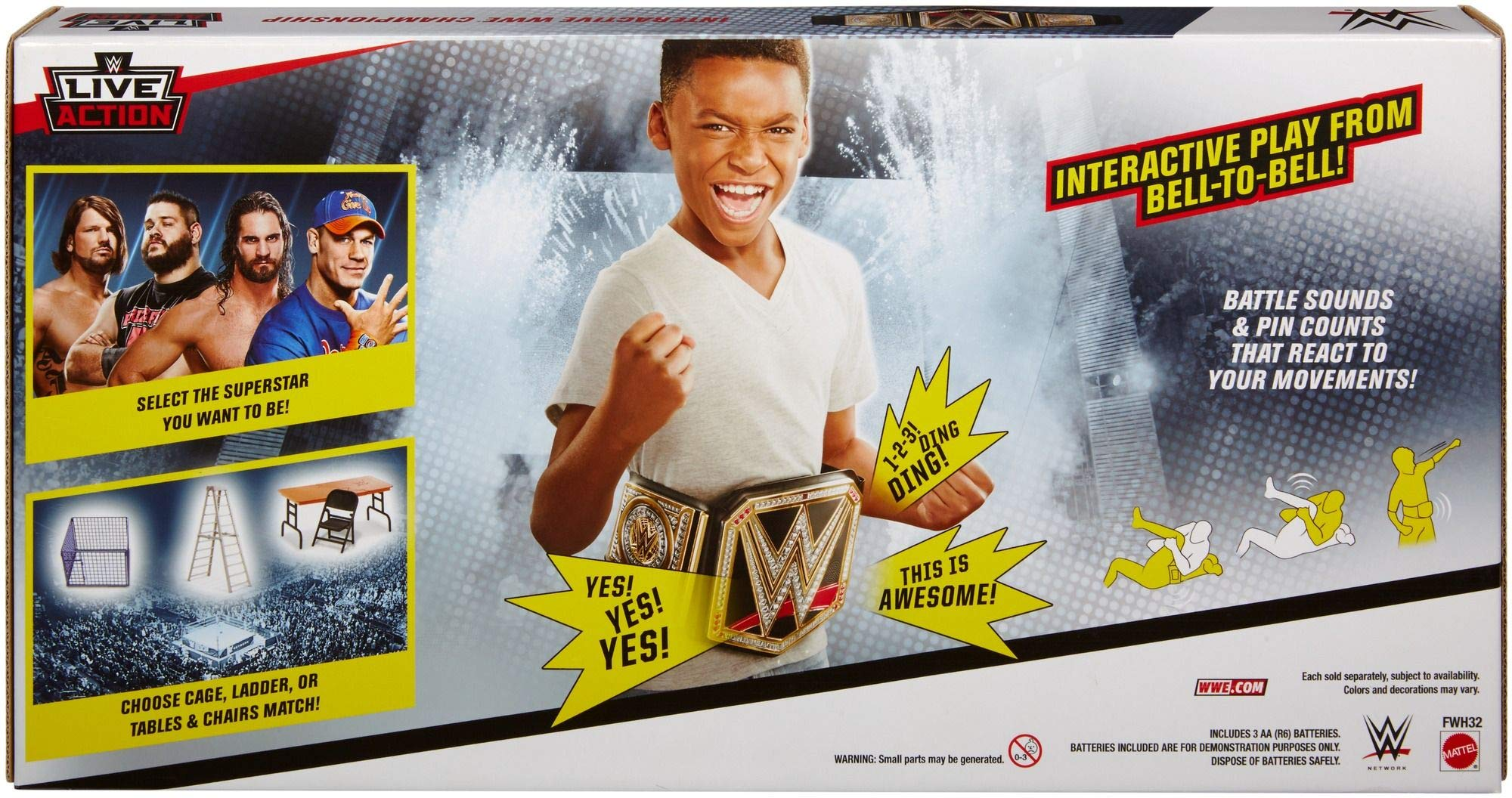 WWE Live Action Interactive Championship Playset by WWE (Image #7)