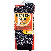 6 Pairs MEN MENS Thick Winter Warm Thermal HEATED Heat Cushion WORK SOCKS Bulk