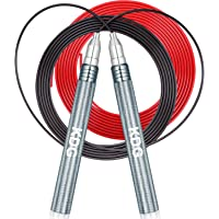 KDG Jump Rope, Speed Skipping Rope with Self-Locking and Screw-Free system, Double Anti-wear Pipes & Cables, for Boxing…